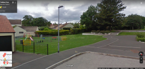 Picture containing a view of Paddons Farm Play area, extract from Google Street view dated 2011